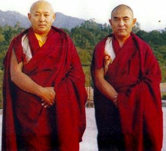 Его Святейшество Дрикунг Кьябгён Чецанг Ринпоче и Его Святейшество Дрикунг Кьябгён Чунгцанг Ринпоче